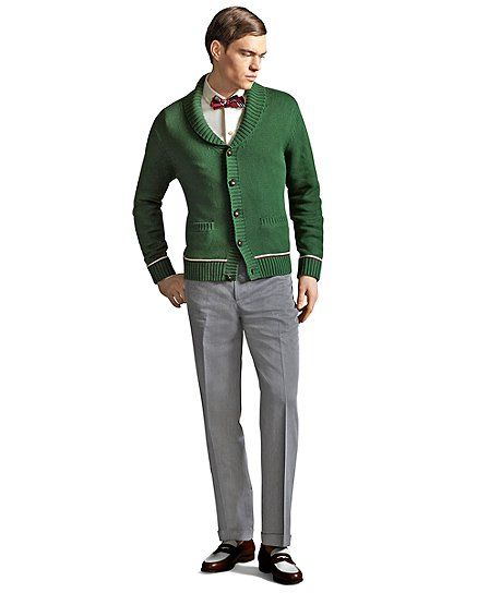 The Great Gatsby Collection Brooks Brothers Green Shawl Collar ...