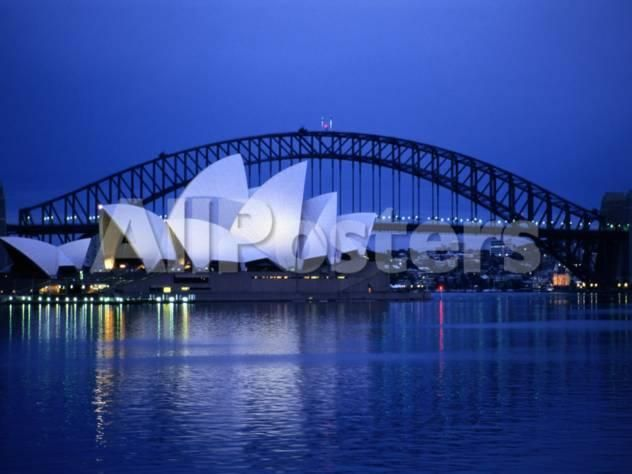 Harbor and Sydney Opera House Landscapes Photographic Print - 41 x 30 cm