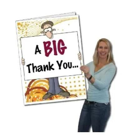 2 X3 Giant Thank You Greeting Card Big Nose Stock Version W