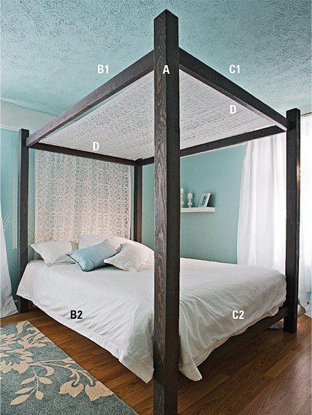 Fabriquer un lit à baldaquin en 2019   Lit baldaquin ...