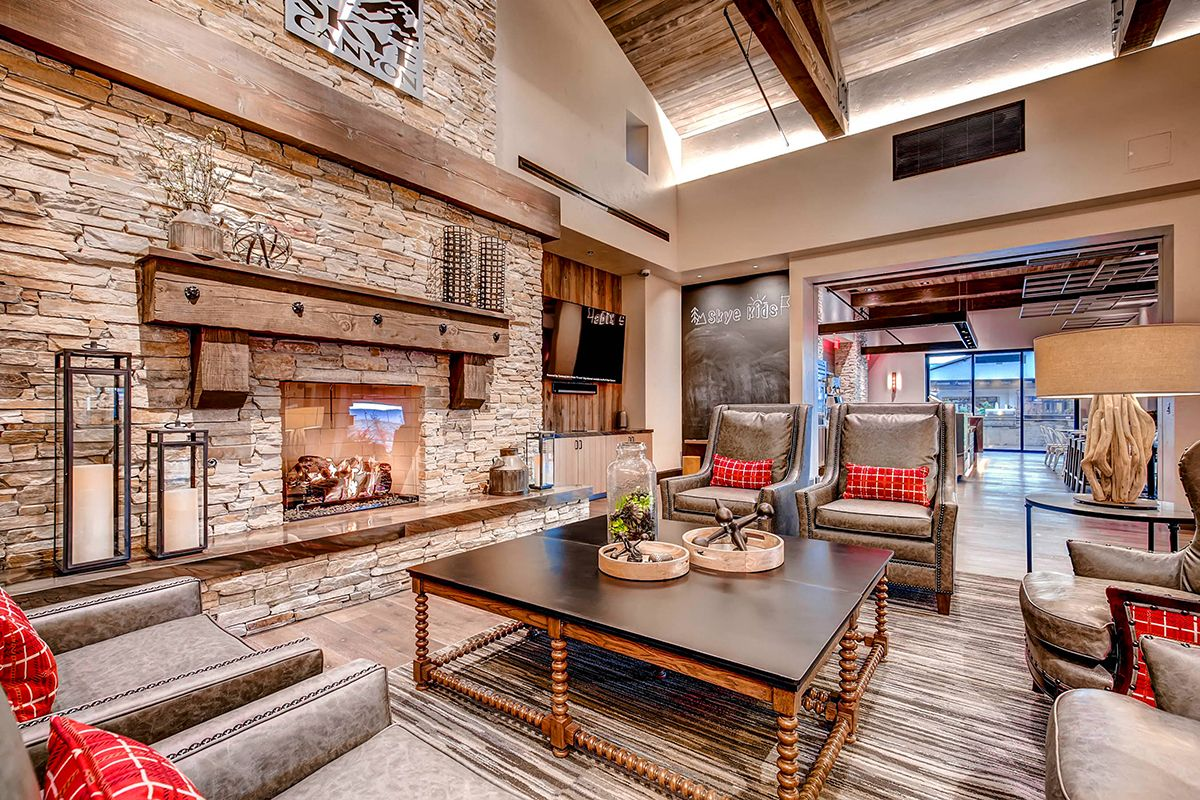 Skye Canyon Welcome Center | Creative License International | Commercial Interior  Design | Natural Textures | Rustic