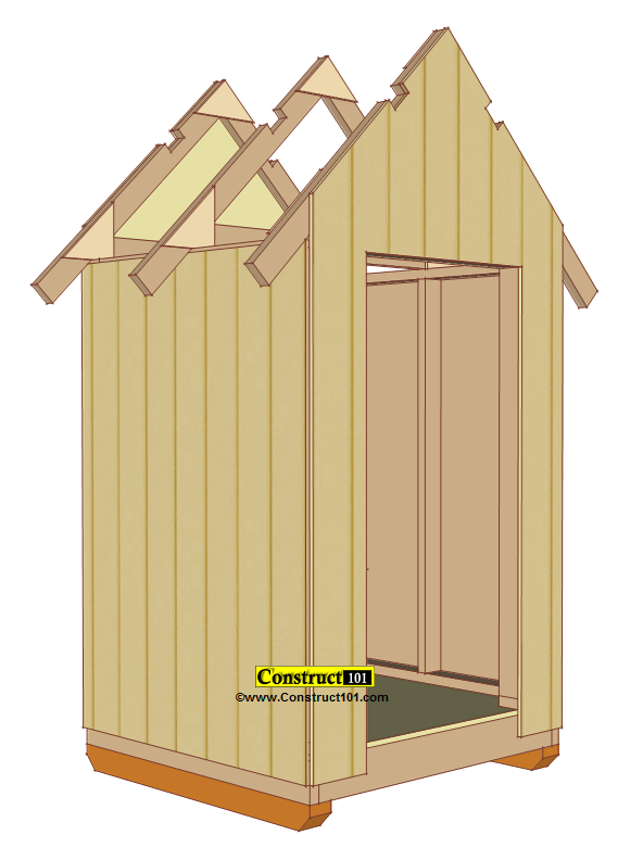 Small Shed Plans 4 X4 Gable Siding