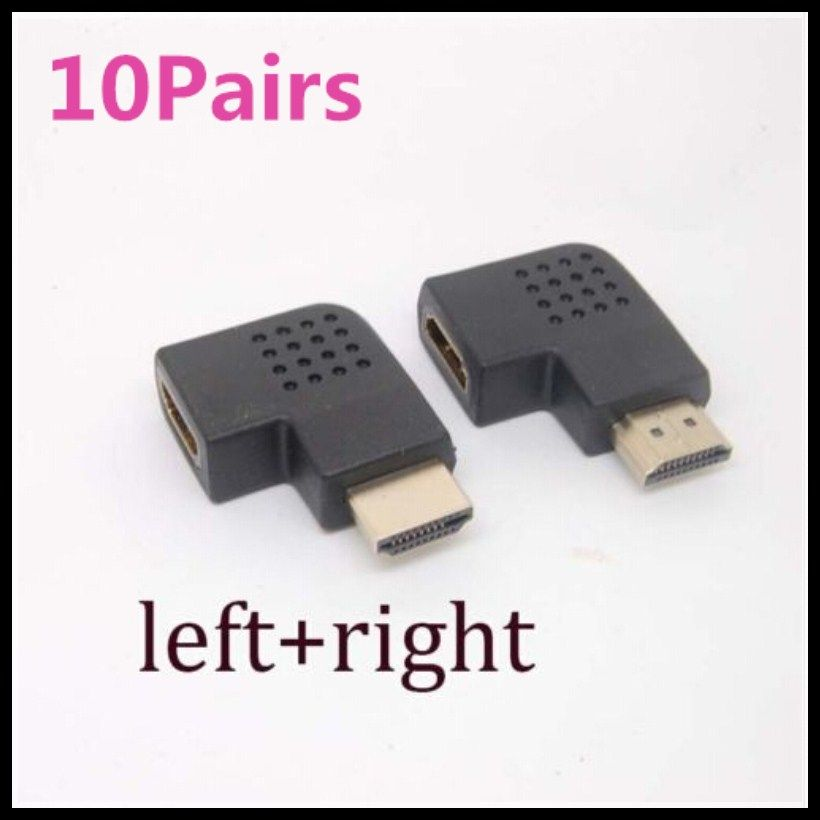 10Pairs90 Degree left/right Angle Male to Female Adapter Cable ...