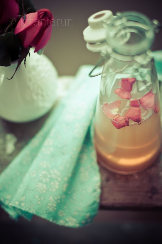 Homemade rose water for use in #desserts, bubble baths and natural cleanser. So easy, its not even a joke.