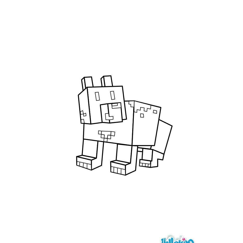 Minecraft Bear coloring page. More video game coloring sheets on ...