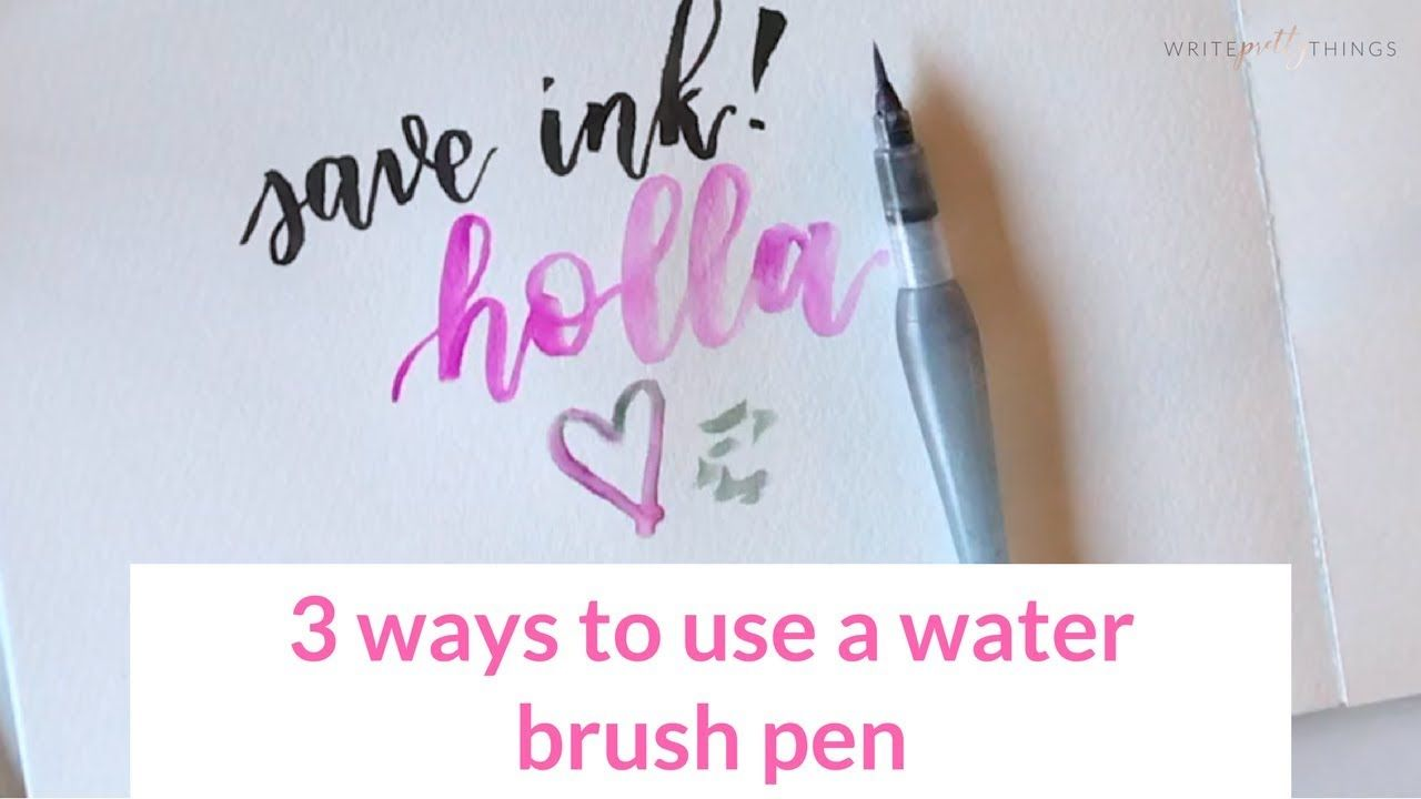 How To Use A Water Brush Pen Water Brush Pen Brush Pen Water Brush