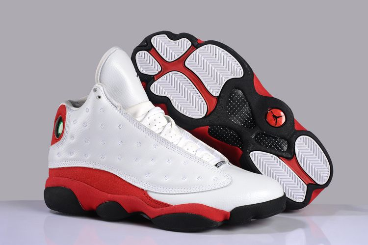 Mens Air Jordan 13 Current Series White Black Red shoes