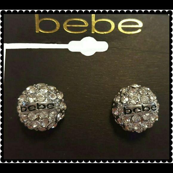 BeBe earrings Cute Silver BeBe bling stud earrings. Thank you and Happy Poshing!!!! bebe Jewelry Earrings