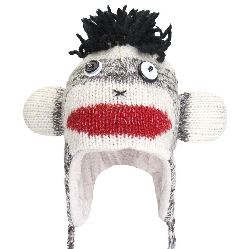 3dcef690e227 Punk Rock Sock Monkey Peruvian Knit Hat | Products | Rock socks ...