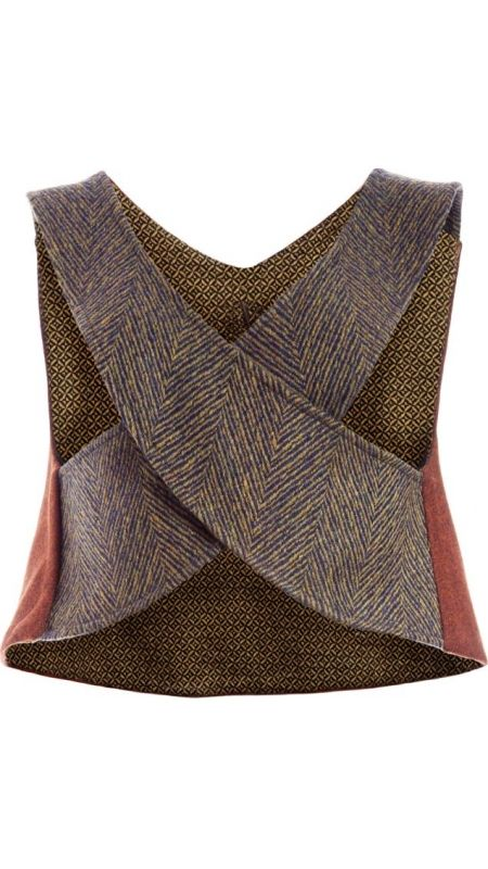 TMcollection Top X Lince - Mix of three types of wool in contrasting colours and patterns. Fall-Winter 15