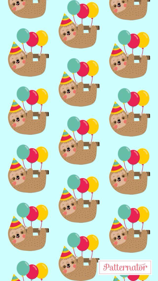 Birthday sloth wallpaper misc pinterest sloth - Sloth wallpaper phone ...