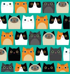 Photo of Cute cats wallpaper Imagen vectorial libre de derechos – VectorStock