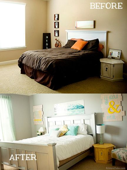 Bedroom Makeover Before And After small bedroom makeovers | master bedroom makeover, master bedroom