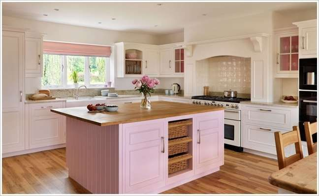 Pink Island Kitchen