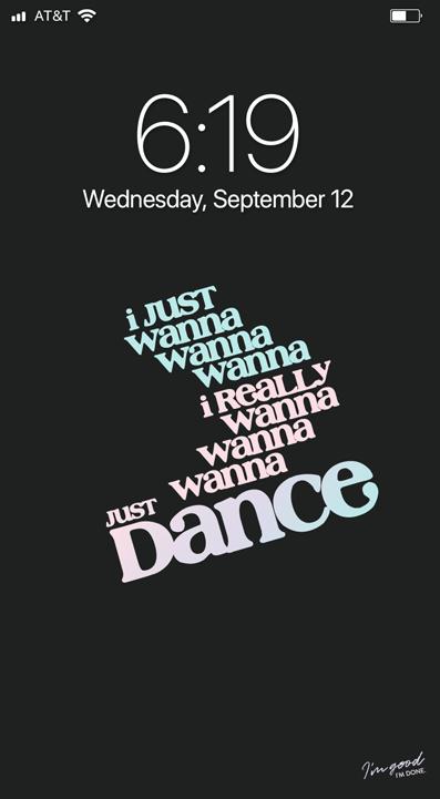 Bts Just Dance Lockscreen Exclusive I M Good I M Done On Patreon Just Dance Lyrics Hope Wallpaper Bts Lyric