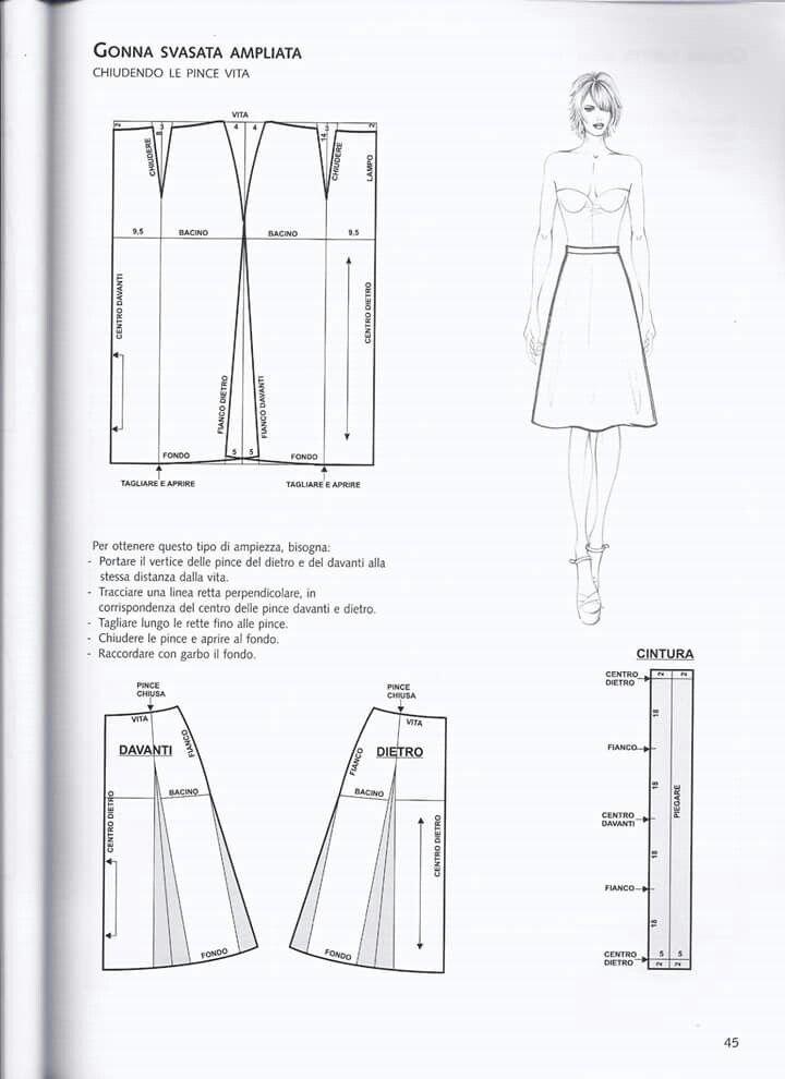 cheaper bf3be 6d736 Gonna svasata ampliata | design.Pattern | Cucire vestiti ...