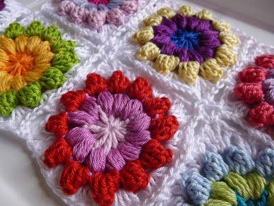 Häkeln im Quadrat: Step-by-Step: Mandala-Granny & Blogpause   riele ...