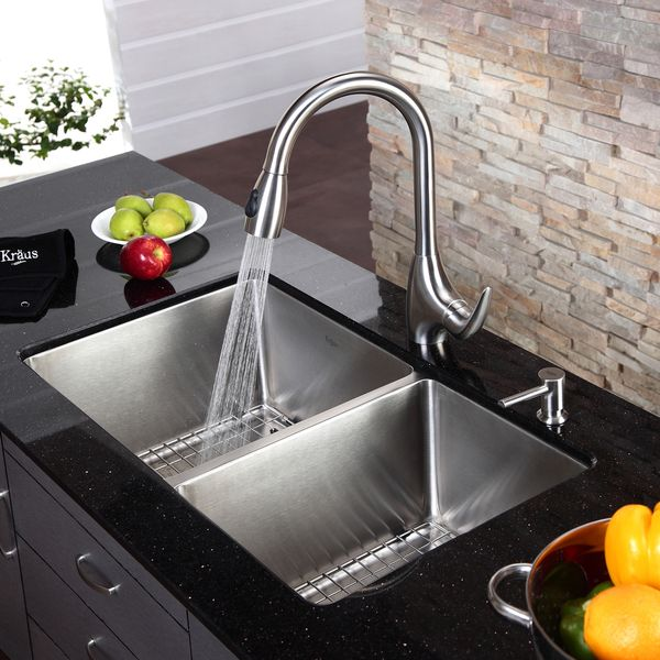 Beautiful Kraus Kitchen Sinks Are Known For Sturdy Construction And Excellent  Quality. Handcrafted From Premium 16 Gauge Stainless Steel, This Undermount  Sink Suits ...