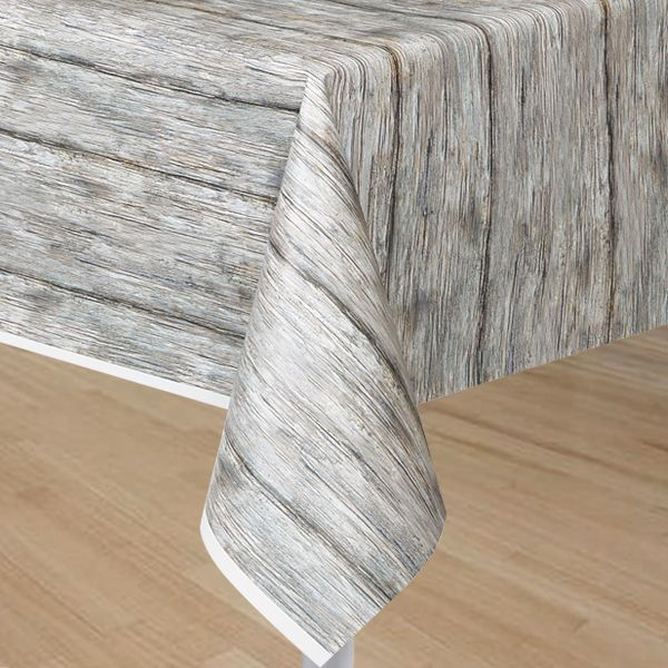 Amazing Rustic Wood Print Table Cover..plastic And CHEAP! Neat For Photo Backdrop.