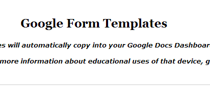 A List Of Google Form Templates For Teachers And