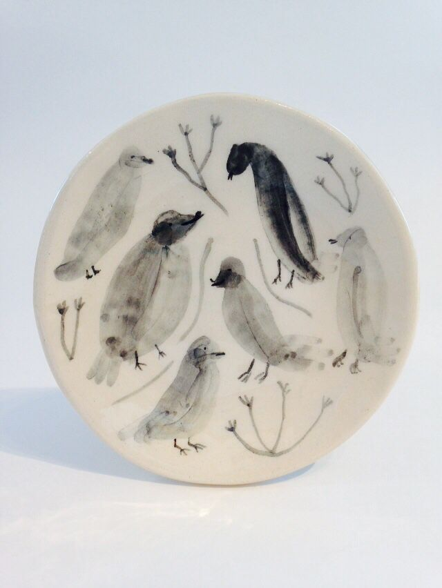 Bird Dish Alex Sickling Hand Painted Dishes Pottery