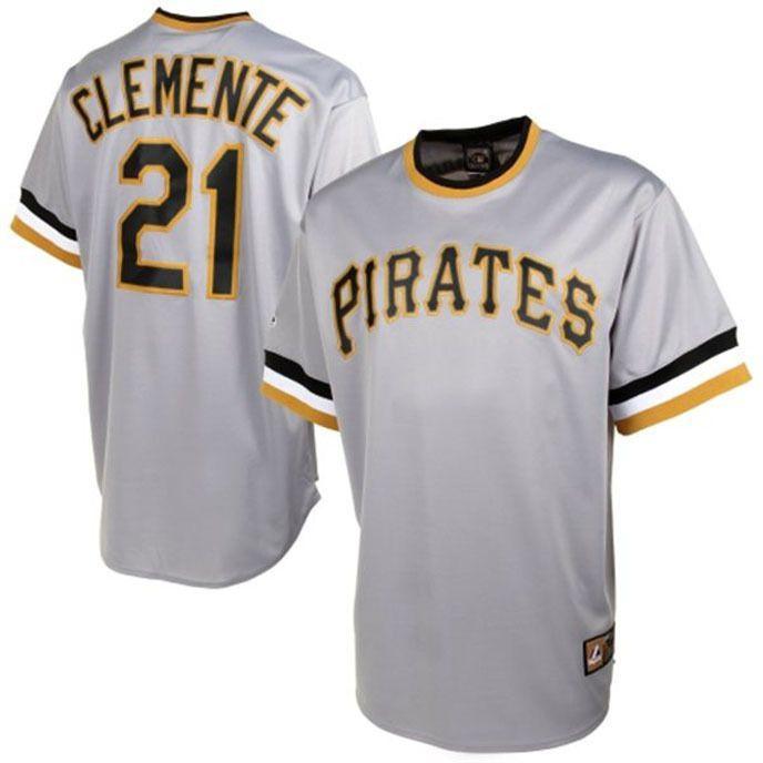 $25 Starting Bid !! New Roberto Clemente #21 Replica Jersey 3XL Pittsburgh Pirates Cooperstown NWT #MajesticCooperstownCollection #PittsburghPirates