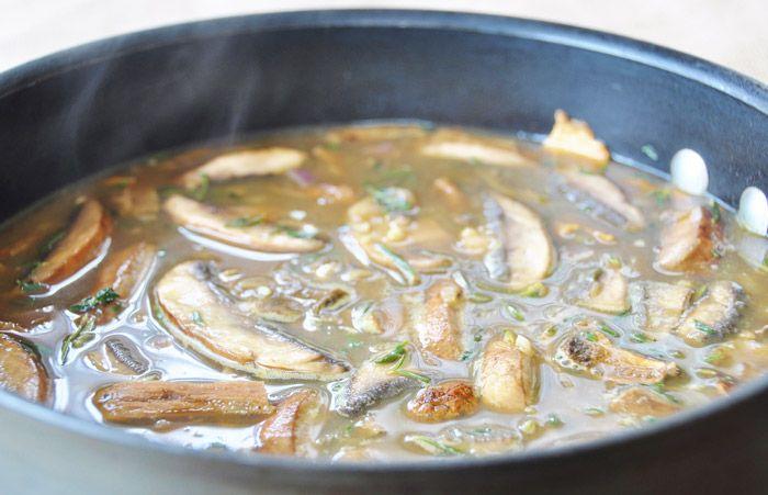 Vegan Porcini Mushroom Gravy Recipe Stuffed Mushrooms Mushroom Gravy Porcini Mushrooms