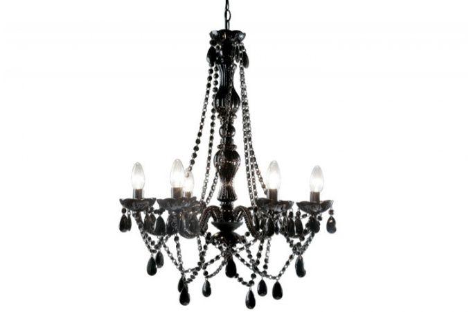 Lustre baroque kare design noir 6 bras crystal deco design kare design