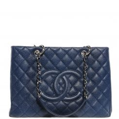 aa8e8cf3f4db CHANEL Caviar Grand Shopping Tote GST Dark Blue | Handbags | Chanel ...
