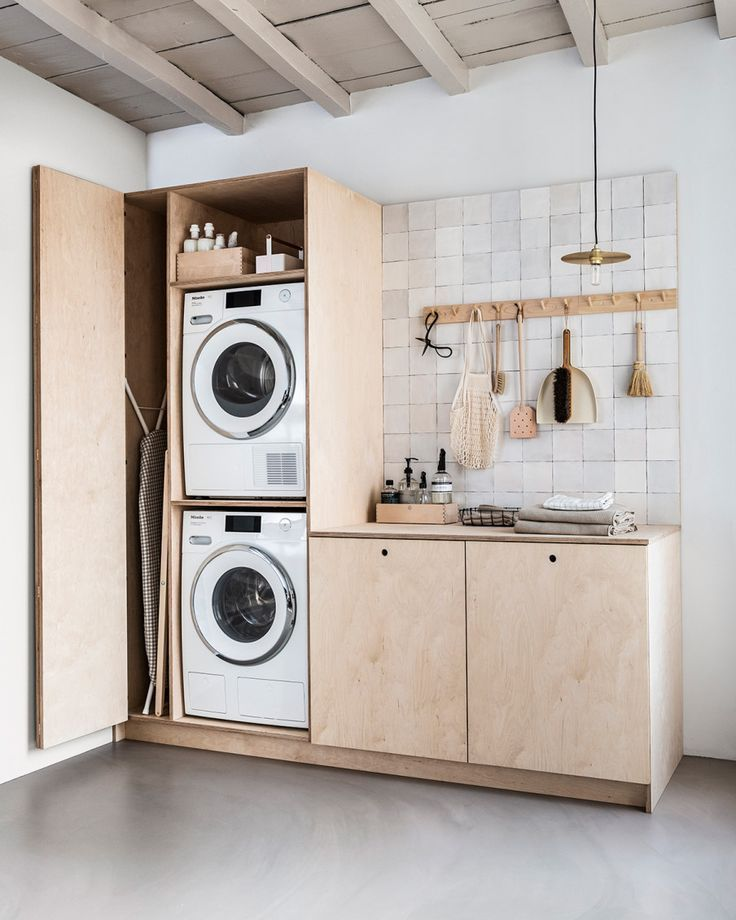 Photo of DIY: waskast voor wasmachine en droger. Zo maak je hem zelf | vtwonen