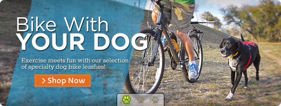 Website devoted to products for biking with your dog and explanations on how to do so safely