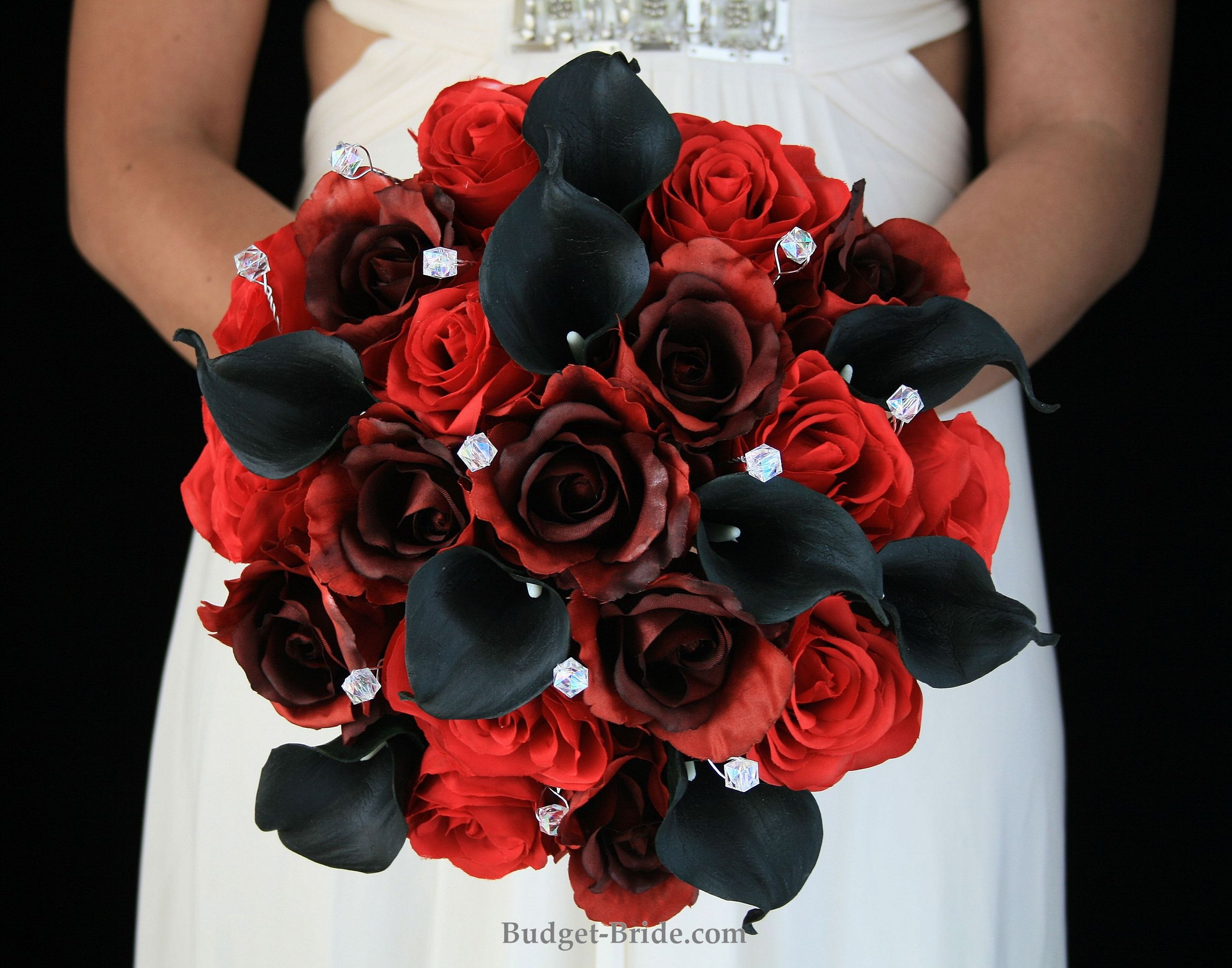 Black And Red Wedding Flowers Black Wedding Flowers