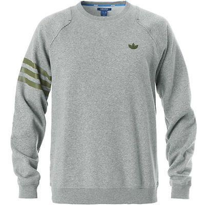 Adidas Sport Luxe Fleece Crew Sweatshirt Mens S22763 Grey