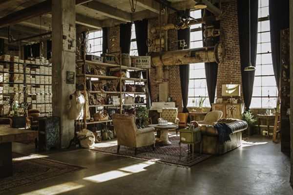 Another Angle Of This Amazing Rustic Industrial Loft
