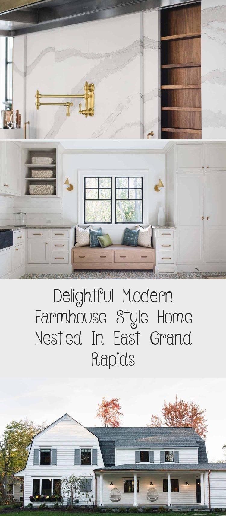 Delightful Modern Farmhouse Style Home Nestled In East Grand Rapids Erin S Blog In 2020 Farmhouse Style House Modern Farmhouse Style Modern Farmhouse
