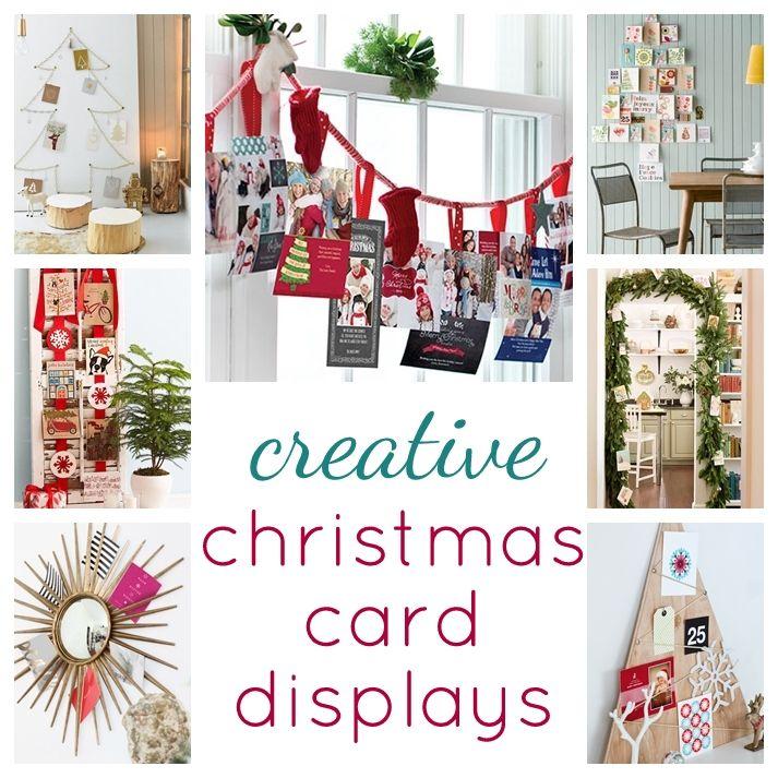 creative christmas card displays