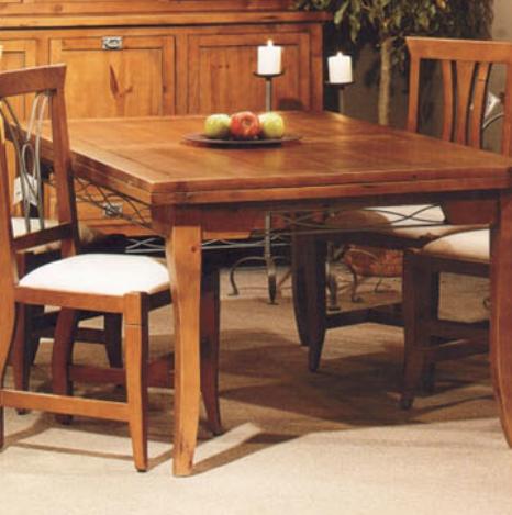 Comedor de madera de pino con acabados de hierro. | Muebles Vintage ...