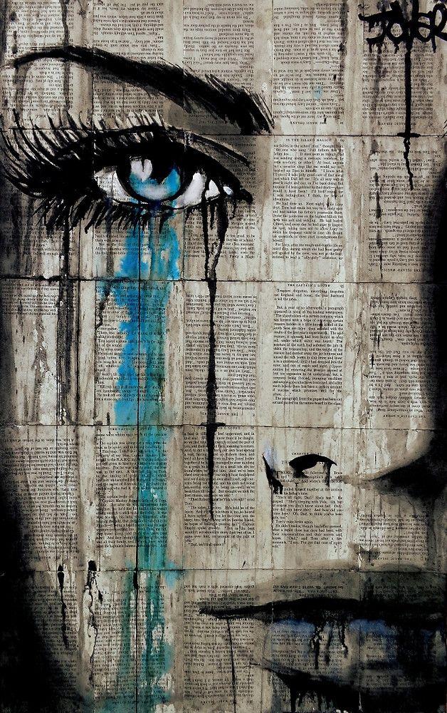 Graffiti Woman Tears Street Art Canvas Wall Art Print