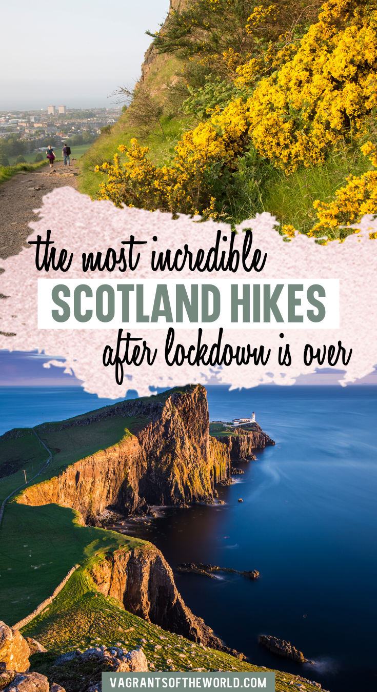 The most beautiful Scotland hikes to enjoy when lockdown is over (including full itineraries!) In this guide to hiking in Scotland, we've compiled some fantastic 2-day hiking itineraries to help you experience the best hillwalking in Scotland (and get away from crowds). Where to hike in Scotland and explore stunning Scottish landscapes.   Scotland Hikes   Best Scotland Hikes   Hiking in Scotland   Scotland Day Hikes  