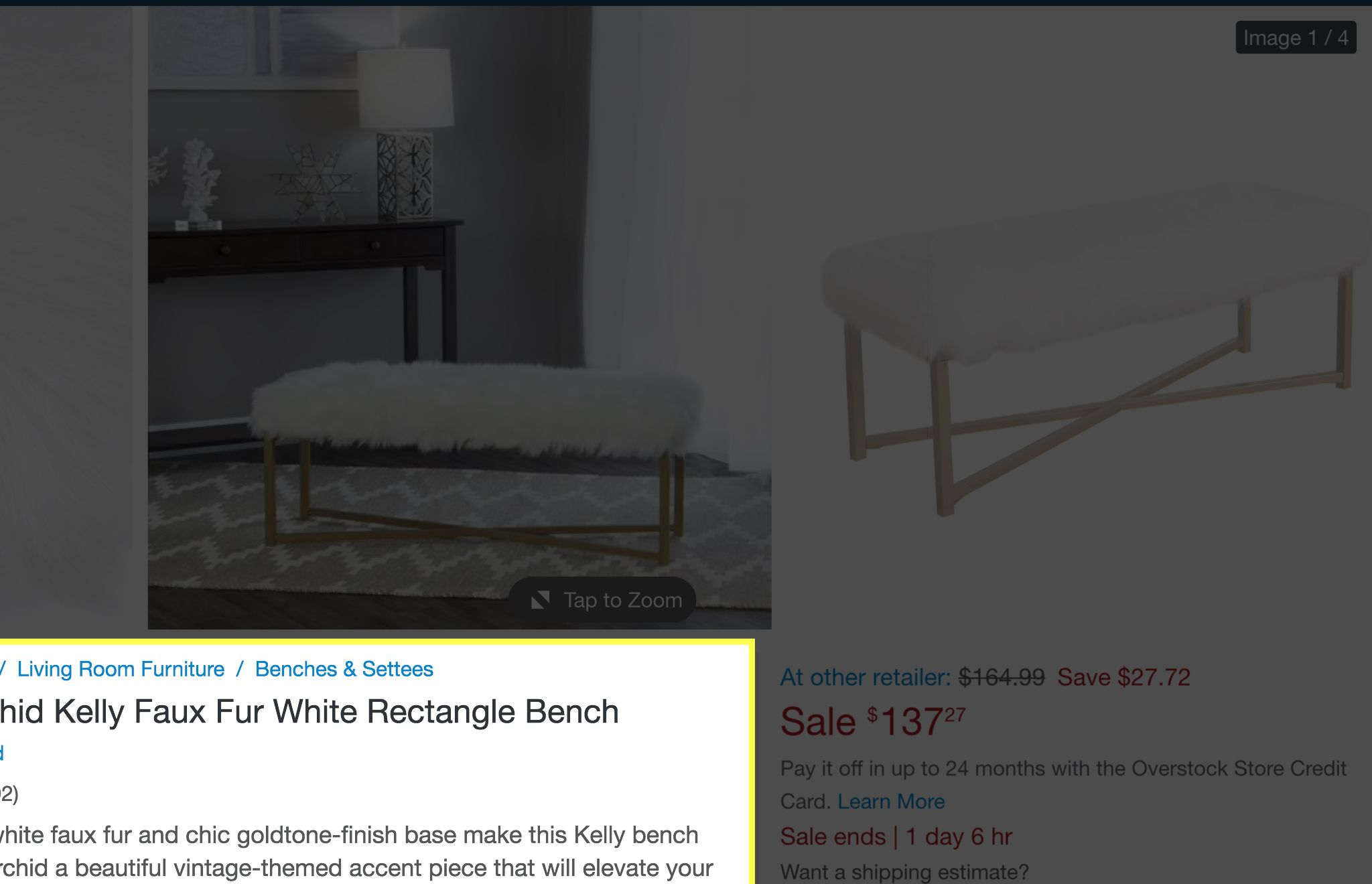 Super Silver Orchid Kelly Faux Fur White Rectangle Bench White Uwap Interior Chair Design Uwaporg