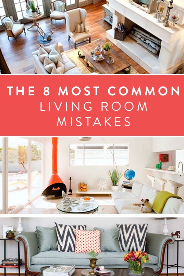 7 Decor Mistakes To Avoid In A Small Home: The Eight Most Common Living-Room Mistakes