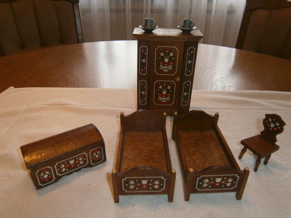 Puppenstuben Möbel, Schlafzimmer in Antiquitäten \ Kunst