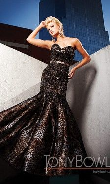 Beautiful Brilliant Brown Satin Sequined Sweetheart Glitter Prom Dresses Court Mermaid style