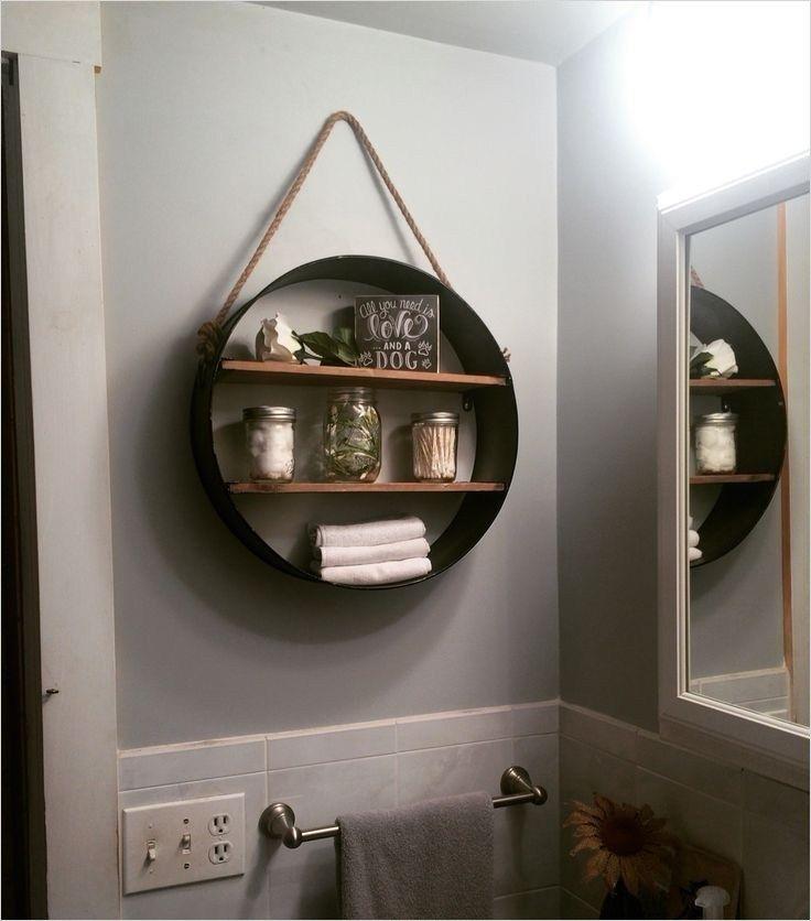 44 Creative Ideas Rustic Bathroom Walls Shelf That Will Make Your Bathroom Stunning In 2020 Rustic Bathroom Shelves Bathroom Wall Shelves Bathroom Wall Decor
