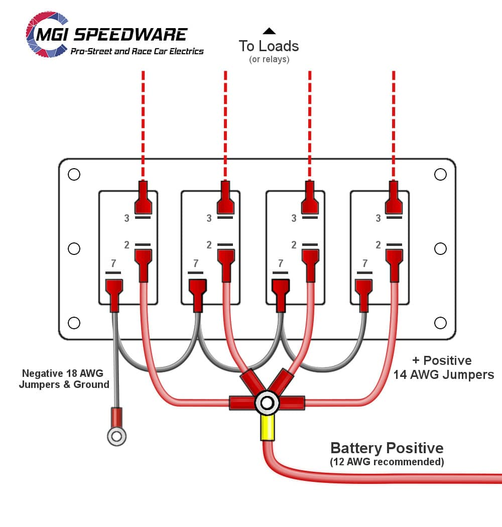 Aux Switch Panel Electrical Diagram Without Relay