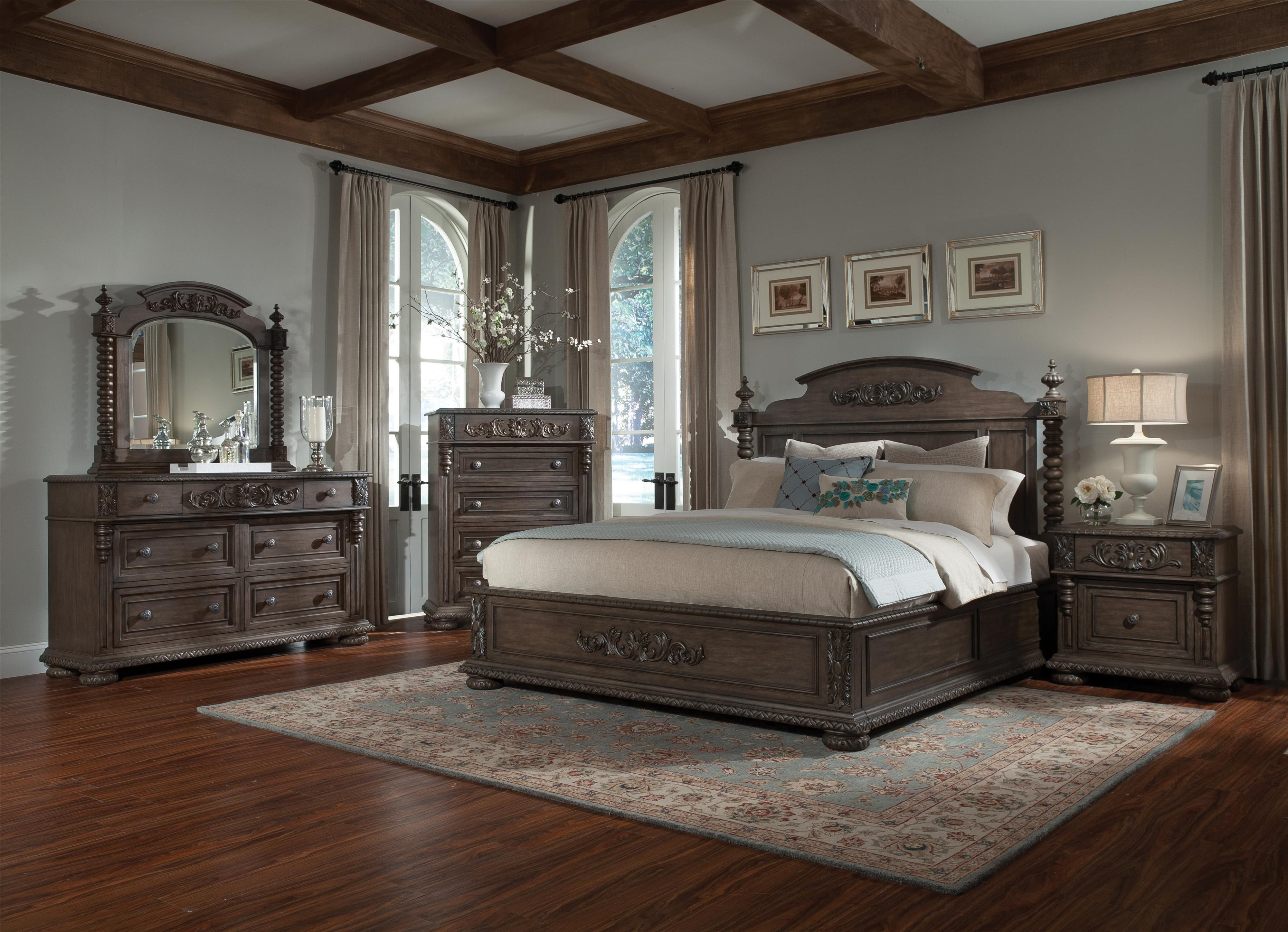 Versailles King Bed With Bun Feet And Carved Details By