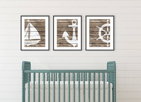 Rustic Beach Decor Prints Bathroom Nautical