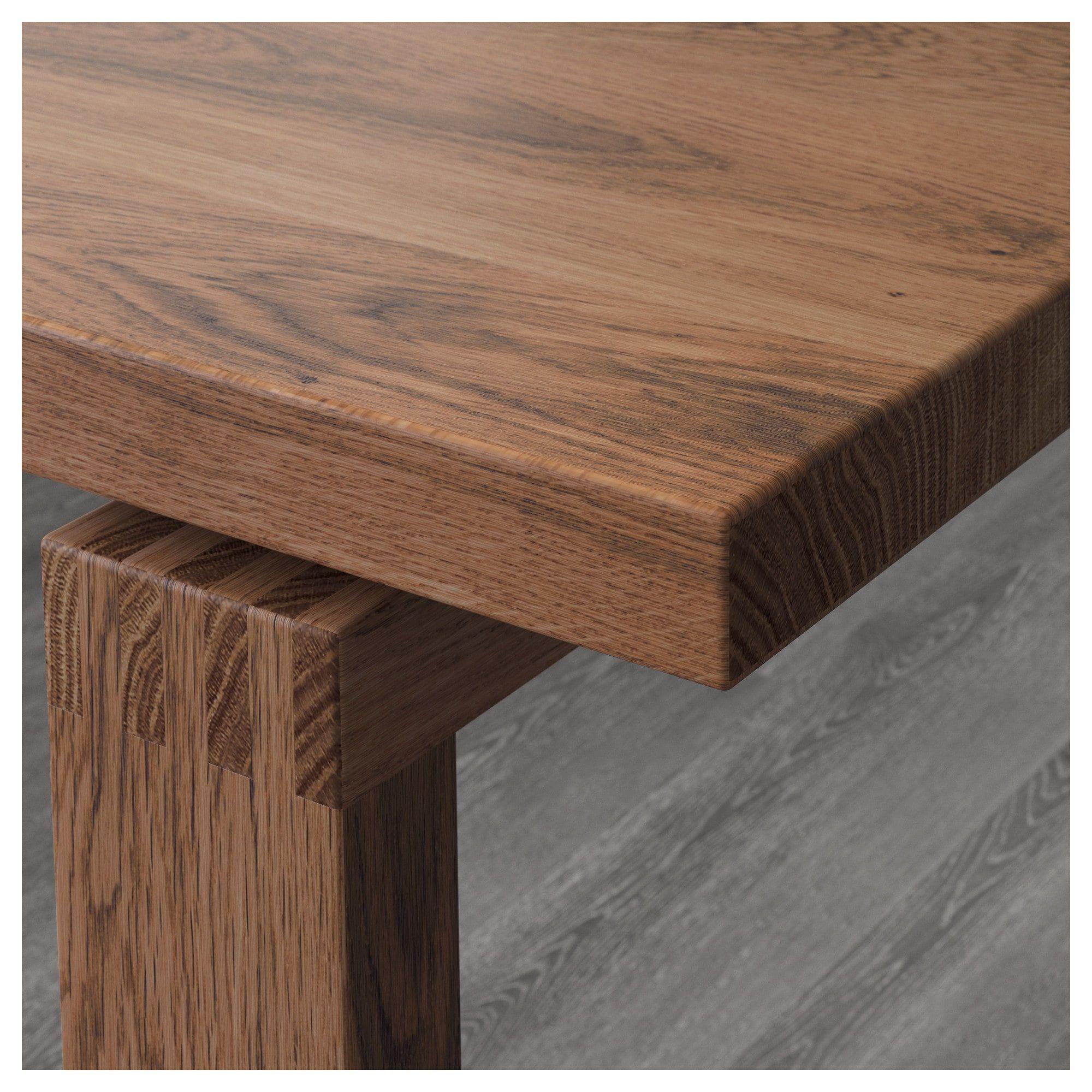IKEA MORBYLANGA OAK Veneer Brown Stained Table Ikea