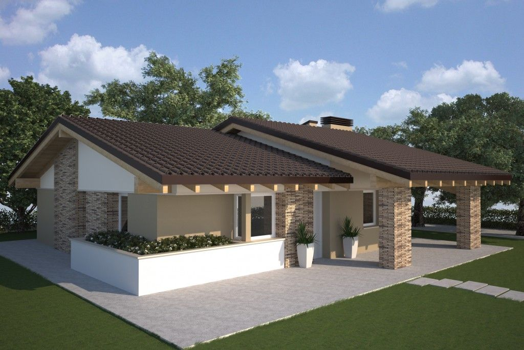Case prefabbricate case giardini ed esterni pinterest for Progetti di case moderne a un solo piano