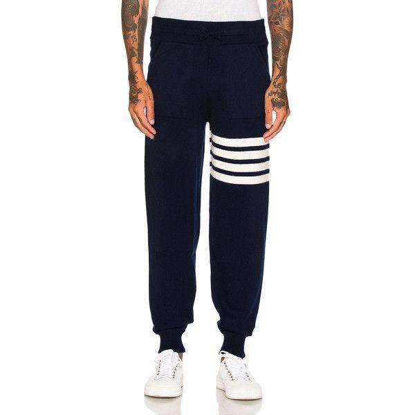 bde602378295 Thom Browne Cashmere 4 Bar Stripe Sweatpants (1
